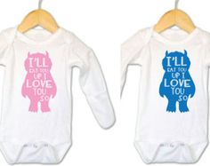 Personalized footed onesies polka dots jenniferann jennifer twin baby bodysuits born first show off baby by twindaisydesigns negle Choice Image