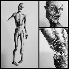 Estudio de #anatomía y #linea con #zombies de Estefanía #art #arte #artwork #cubogaleriaadultos2015  #draw #dibujo…