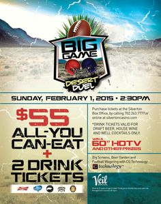 Football Fans Get Fired Up For The Big Game, Desert Duel Party at Silverton Casino!