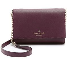 Kate Spade New York Cami Cross Body Bag ($150) ❤ liked on Polyvore featuring bags, handbags, shoulder bags, mulled wine, purple purse, kate spade shoulder bag, kate spade crossbody, leather shoulder bag and crossbody shoulder bags