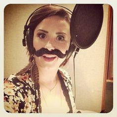 Demi in the studio