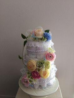 3段おむつケーキ (フラワーのみ)|ハンドメイド、手作り、手仕事品の通販・販売・購入ならCreema。