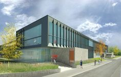Architectural renderings of the fine arts center's first expansion expected to start in the summer of 2013 and be completed by the fall of 2015.