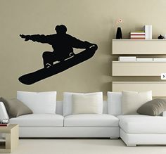 TGSIK DIY Skier Snowboarding Player Silhouette Vinyl Removable Wall Decals Snowboarder Stickers Winter Sports Snowboard Home Decal Decor Art Family Decorations Black Olivia http://www.amazon.com/dp/B00RMCXPOM/ref=cm_sw_r_pi_dp_NV53ub0CA7AYC