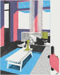 Lovely architectural illustrations by Amsterdam-based artist Leonie Bos. Bos adaptstraditional printmaking techniques, creating different shades and colours in her digital images by layering semi-transparent tones. See more images below.       Leonie Bos' Website Via It's … Continue reading →