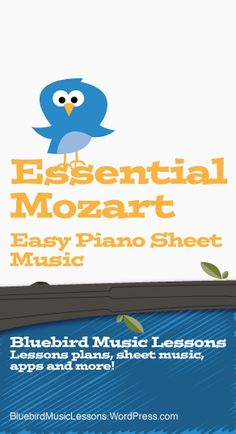 Essential Mozart   Easy Piano Sheet Music and Composer Biography Easy Piano Sheet Music, Guitar Sheet Music, Free Sheet Music, Piano Music, Music Sheets, Violin Sheet, Piano Chord, Drum Music, Piano Songs