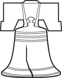 Patriotic Symbols FREE To Print Liberty Bell Coloring