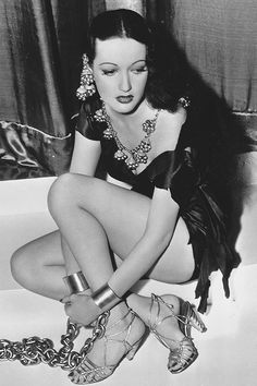 Dorothy Lamour on the set of Man About Town, 1939.
