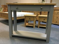 One of our console tables painted Cambridge Grey. www.cobwebsfurniture.co.uk