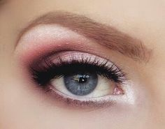 Dressier pink and mauve eye makeup- Date night?