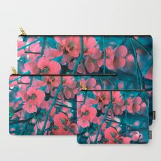 Floral abstract 65 Carry-All Pouch by maryberg