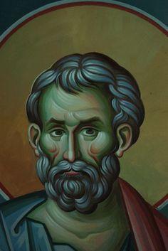 Iconographer Dimitris Maniatis – icoana Writing Icon, Byzantine Icons, Orthodox Icons, Vignettes, Fresco, Face, Brody, Fictional Characters, Inspiration