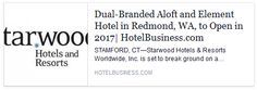 We are thrilled to announce our next endeavor, and our first partnership with Starwood Hotels & Resorts!
