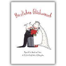 Herzlichen Glückwunsch zur Hochzeit für glückliche Brautpaare/ Ehepaare