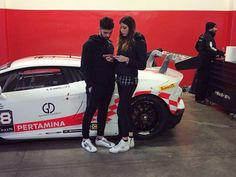 At the Lamborghini Huracan Super Trofeo test, Giulia de Majo and the pilot Andrea Bruno D'Angelo were wearing the new and original #2star shoes!  >>>> www.2star.it  #2starcollection #lamborghini #huracan #super #trofeo #sneaker #sneakers #white #original #new #spring #summer #style #fashion #instamoment