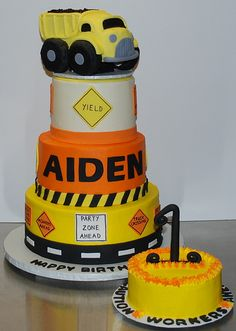 Construction Birthday Cake | This is the cake I've been work… | Flickr