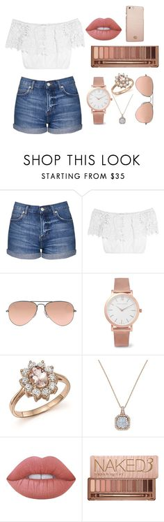 """""""Untitled #67"""" by charlotte-planeta on Polyvore featuring Topshop, Miguelina, Ray-Ban, Larsson & Jennings, Bloomingdale's, Lime Crime, Urban Decay and Tory Burch"""