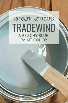 Sherwin-Williams Tradewind Paint Color is among the most popular coastal. , Sherwin-Williams Tradewind Paint Color is among the most popular coastal paint colors preferred by interior designers. Coastal Paint Colors, Blue Paint Colors, Paint Color Schemes, Favorite Paint Colors, Interior Paint Colors, Paint Colors For Home, Wall Colors, House Colors, Interior Design