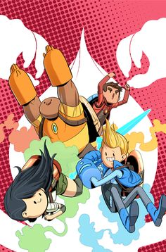 Bravest Warriors cover by Tyson Hesse