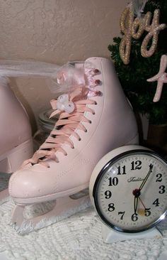 skating in michigan as a child, but never in pink skates