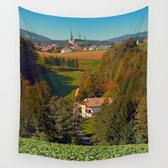 Walking home into the village center Wall Tapestries, Tapestry, Landscape Photography, Walking, Home, Products, Wall Hangings, Hanging Tapestry, Tapestries