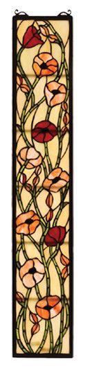 Meyda Tiffany Victorian Tiffany Poppy Stained Glass Window & Reviews | Wayfair