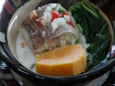 Steamed Fish with Miti - Fijian Coconut Relish
