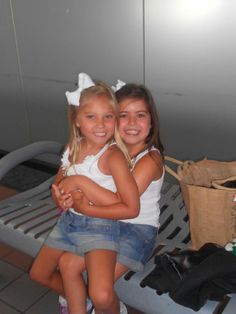 Sophia Grace & Rosie at LAX getting ready to go home. We will miss you!