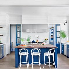 The 2015 Southern Living Home Awards: Best Kitchen goes to this blue beauty on Sullivan's Island in South Carolina.