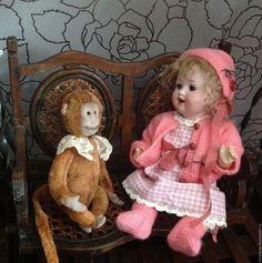Купить Комплект для антикварного пупса, реплики - бледно-розовый, одежда для кукол, куклы и игрушки