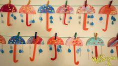 Jesienne parasolepół talerzyka tekturowego  klej  nożyczki  farby  blok kolorowy  nici Diy And Crafts, Crafts For Kids, Kindergarten, Projects To Try, Christmas Ornaments, Holiday Decor, Children, Free, Craft Activities For Kids