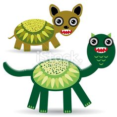 Cute cartoon Monster on a white background. vector Royalty Free Stock Vector Art Illustration