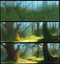 Environment art by the talented Tirzah Bauer