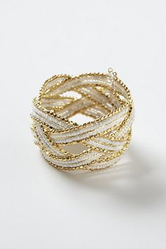 Anthropologie Woven Cuff Bracelet Brand new and never worn (aside from modeling pictures) intricate detailing cuff from Anthro! Make me an offer! Diy Jewelry, Jewelry Box, Jewelry Bracelets, Fashion Jewelry, Jewelry Ideas, Jewellery, Cream And Gold, White Gold, Anthropologie Jewelry