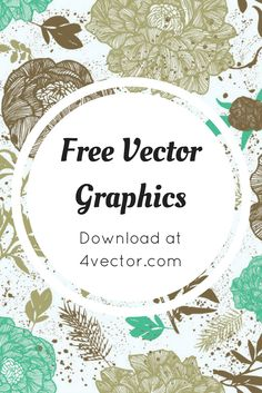 Vector line drawing fashion flowers background is free Vector flower vector that you can download for free via 4vector.com   @4vector
