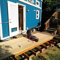 Exceptional #theskookumhouse Is Getting Summer Ready With Its New (in Progress) Deck. #