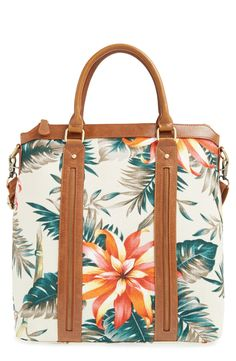 This tropical floral tote is perfect for vacation adventures.