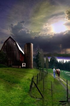 Storm Coming Over Barn