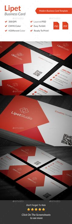 Lipet - Modern Business Card Template