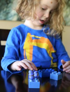 4 Fine Motor Activites using LEGO Bricks from Fun at Home with Kids
