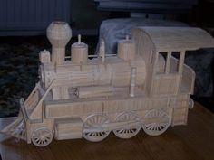 train matchstick art