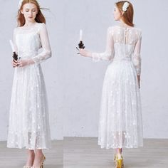 Buy Ankle Length Scoop A-Line Wedding Dresses Online at Low Cost from A-Line Wedding Dresses Wholesalers | DHgate.com