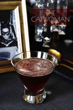 Batman Cocktails! - Album on Imgur 2 oz. bourbon whiskey 1 oz. sweet vermouth 0.5 oz. creme de cassis 0.5 oz. fresh-squeezed lemon juice Dash bitters