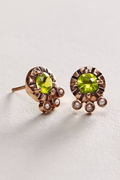 Contemporary. 14k Rose Gold, Peridot and Seed Pearl, Ark Kastan.