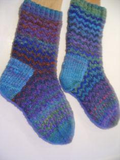 Zig Zag Socks for Dawn Custom Order by SpruceCottageKnits on Etsy