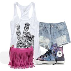"""""""casual summer outting"""" by mariahlove724 on Polyvore"""