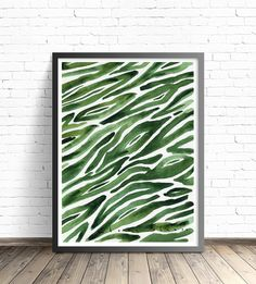 Green Print. Abstract print by DreamyMeisme on Etsy