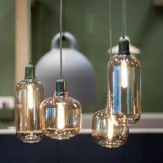 Serie Amp hanglampen small en large in groen en zwart marmer www.emma-b.nl Emma b shop / winkel Utrecht Netherlands