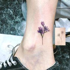 Freesia tattoo by aeri_tattoo #TattooIdeasFlower