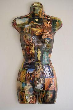 Book of Art -- Female Mannequin Form Art Mannequin, Mannequin Torso, Paper Mache Sculpture, Sculpture Art, Collage Techniques, Found Object Art, Modern Ceramics, Doll Face, Mannequins